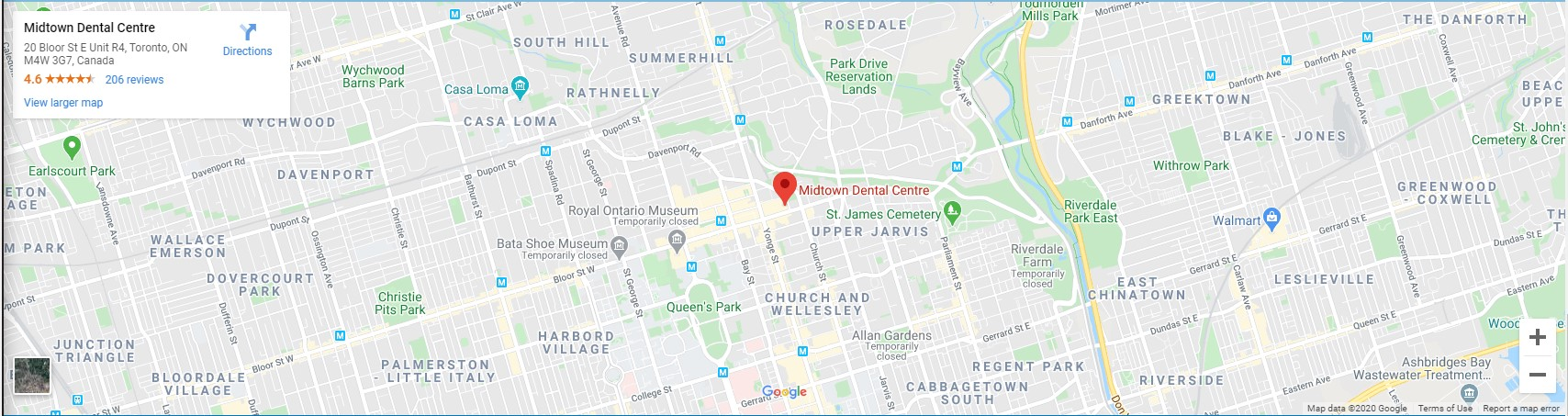 midtown dental toronto dentist map